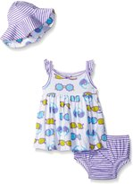 Gerber Baby Three-Piece Sundress, Diaper Cover and Hat Set