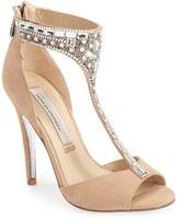 Kristin Cavallari Women's 'Lena' Crystal T-Strap Sandal