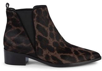 Marc Fisher Yale Animal-Print Calf Hair Chelsea Boots