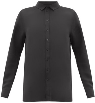 Wardrobe NYC Release 01 Crepe-de-chine Blouse - Black