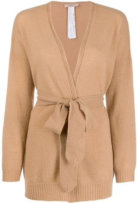 Twin-Set Belted Wrap Cardigan