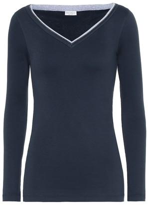 Brunello Cucinelli Embellished cotton-blend sweater