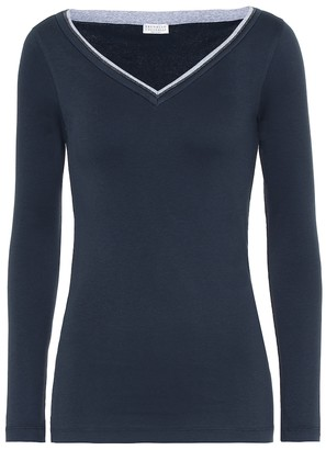 Brunello Cucinelli Embellished cotton-blend sweater