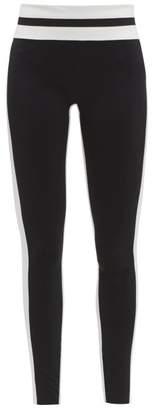 Vaara Flo Striped Performance Leggings - Womens - Black/white