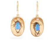 Christopher Kane Beetle drop earrings
