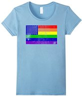 Ripple Junction Women's Pride US Flag Medium