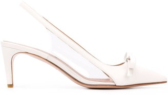 RED Valentino clear panel 70mm pumps