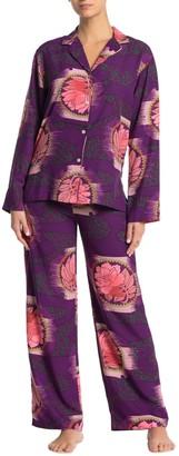 Natori Shangri-La Long Sleeve Shirt & Pants Pajama 2-Piece Set