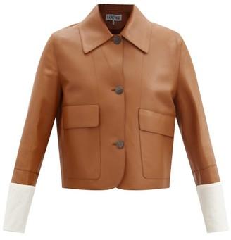 Loewe Single-breasted Leather Jacket - Tan