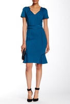 NUE by Shani Split Neck Piped Dress