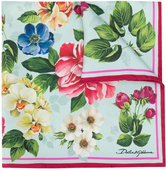 Dolce & Gabbana Floral Ombre print scarf