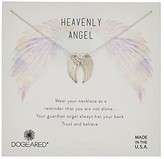 Dogeared Heavenly Angel, Slide Through Angel Wing Necklace (Sterling Silver) Necklace