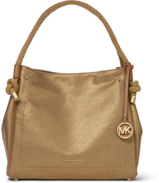MICHAEL Michael Kors Isla Large Metallic Leather Tote Bag