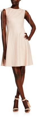ADEAM Lace-Up Shoulder Dress