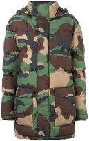 Moschino padded camouflage jacket - women - Polyamide/Spandex/Elastane/Viscose/Virgin Wool - 38