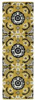 Leon Hand-tufted de Yellow Rug (2'6 x 8')