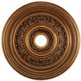 STUDY Titan Lighting English 24 in. Antique Bronze Ceiling Medallion