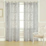 Laura Ashley Rothbury 84-Inch Burnout Window Curtain Panel Pair