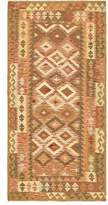 """3.1 Phillip Lim One-of-a-Kind Doorfield Hand-Knotted Runner 3'1"""" x 6'6"""" Wool Green/Brown Area Rug Isabelline"""
