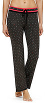 Kensie XOXO Heart-Print Jersey Sleep Pants