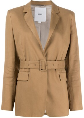 Closed Belted Tailored Blazer