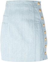 Balmain Gonna Bottoni Oro denim skirt - women - Cotton/Spandex/Elastane - 38
