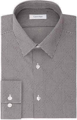 Calvin Klein Men's Dress Shirt Non Iron Stretch Slim Fit Point Collar Check