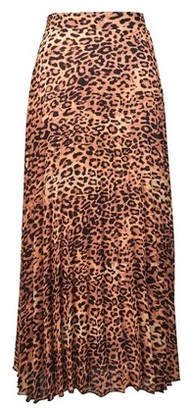 Dorothy Perkins Womens Tall Multi Coloured Animal Print Pleat Skirt