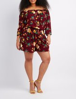 Charlotte Russe Plus Size Floral Off-The-Shoulder Romper