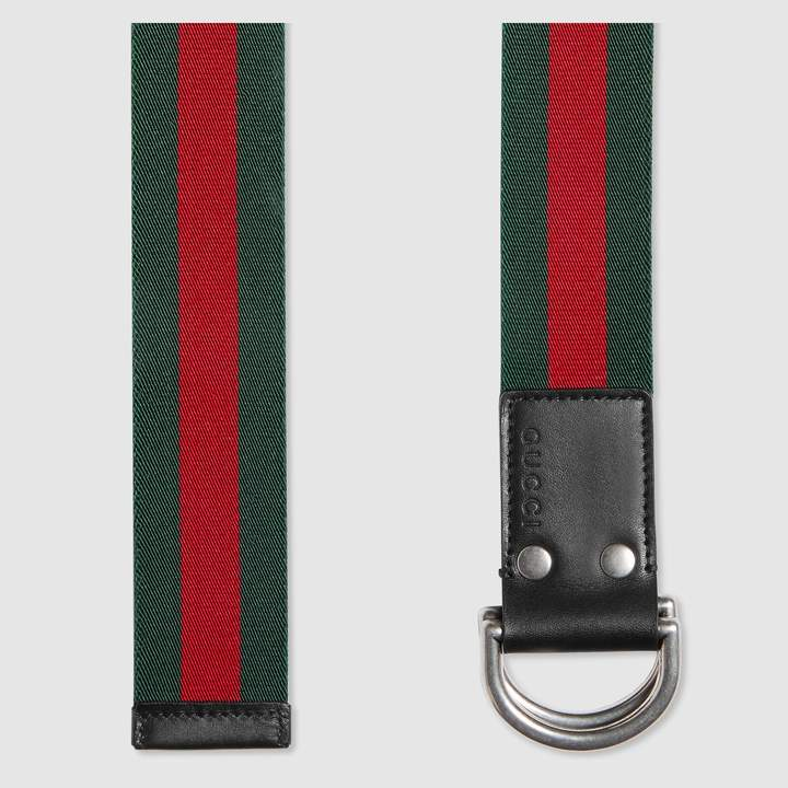 Gucci Web belt with D-ring