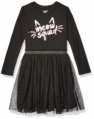 Spotted Zebra Amazon Brand Toddler Girl's Long-Sleeve Sparkle Tutu Dresses