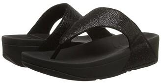 FitFlop Lulu Superglitz (Black) Women's Sandals