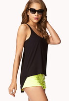 Forever 21 Chiffon Back High-Low Tank