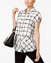 Alfani Printed Popover Blouse, Created for Macy's