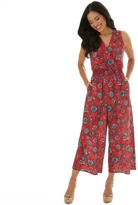 Apt. 9 Women's Bubble Crepe Crop Jumpsuit
