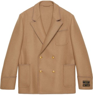 Gucci Double-Breasted Trimmed Jacket