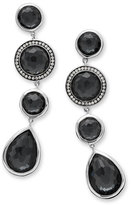 Ippolita 925 Lollipop Mixed Stone Drop Earrings in Quartz/Hematite with Diamonds