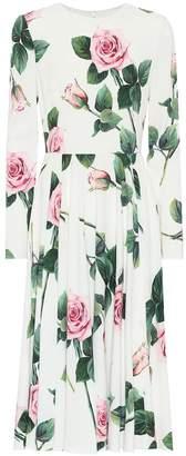 Dolce & Gabbana Floral cady midi dress