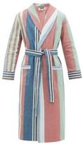 P. Le Moult - Striped Cotton Canvas Robe - Mens - Multi