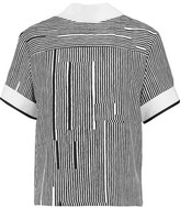 Carven Striped Crepe Top