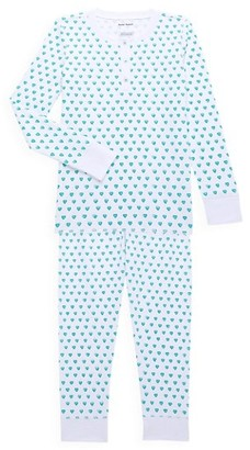 Roller Rabbit Baby's, Little Kid's & Kid's Two-Piece Hearts Cotton Pajama Top & Pants Set