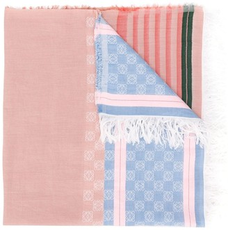Loewe frayed edge scarf