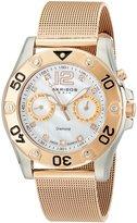 Akribos XXIV Women's AK553RG Diamond Multi-Function Mesh Bracelet Watch