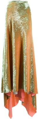 Ann Demeulemeester Velvet Maxi Skirt