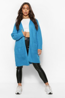 boohoo Textured Chunky Knit Cardigan