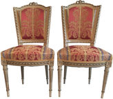 One Kings Lane Vintage Hand-Painted French Chairs, Pair