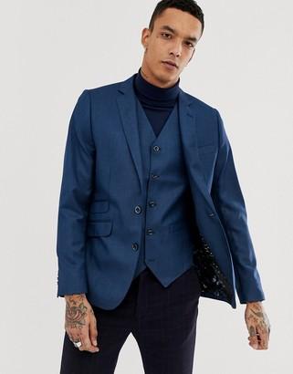 Devils Advocate Slim Fit Metallic Suit Jacket