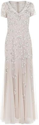 Adrianna Papell Adrianna Short Sleeve Bead Dress