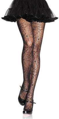 Leg Avenue Spiderweb Lace Pantyhose, Black Halloween Costume Accessory