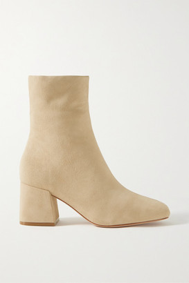 PORTE & PAIRE Suede Ankle Boots - Beige
